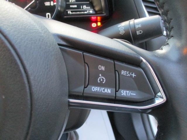 約30km〜100km/hの範囲で走行中、アクセルを踏まずに設定速度での低速走行が可能!また、AT車は下り坂でのシフトダウン制御機能も採用しています。