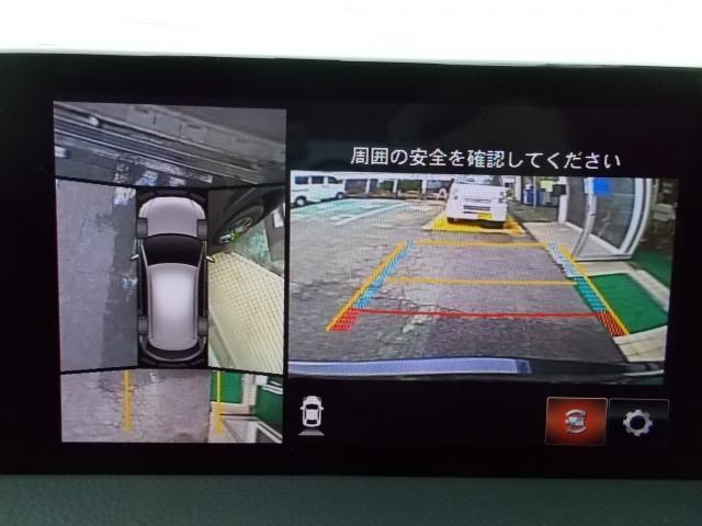 360°モニター、前後パーキングセンサー付きで駐車支援もバッチリ♪後退時に接近してくる車両を検地し、ドライバーに警告を促すRCTAも付いてますヨ♪