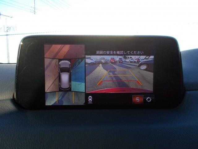 見えない部分の危険察知をサポートする360°ビューモニター搭載!危険を事前にお知らせしてくれることにより、より安全にスムーズに運転をサポート!