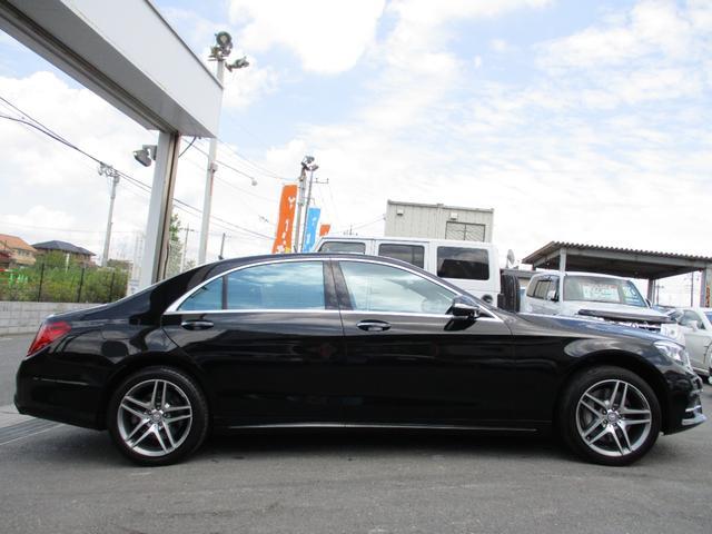 S550ロング レーダーセーフティパッケージ サンルーフ BURMESTER 黒本革 全席パワーシート シートヒーター・クーラー 360°カメラ 純正エアサス AMG19AW ワンオーナー車(10枚目)