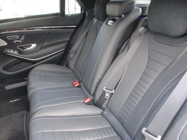 S550ロング レーダーセーフティパッケージ サンルーフ BURMESTER 黒本革 全席パワーシート シートヒーター・クーラー 360°カメラ 純正エアサス AMG19AW ワンオーナー車(14枚目)