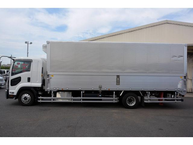 いすゞ フォワード 4t 冷蔵冷凍ウィング パワーゲート付 菱重 積載