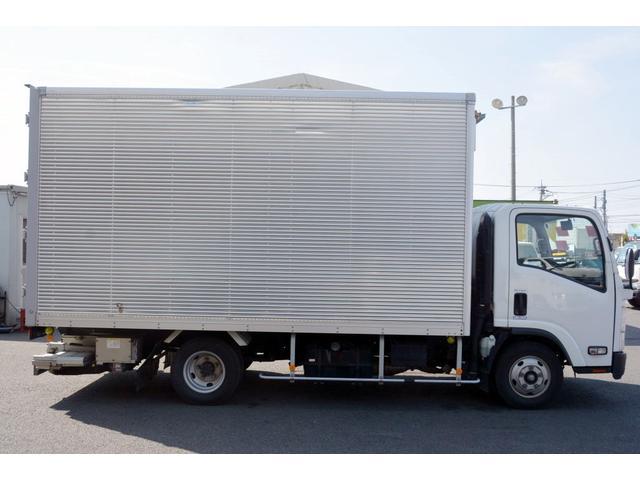 いすゞ エルフトラック ワイドロング アルミバン サイドドア 格納リフト 2t