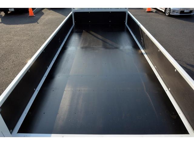 三菱ふそう キャンター ロング 全低床 平ボディー 三方開 垂直リフト 積載2t