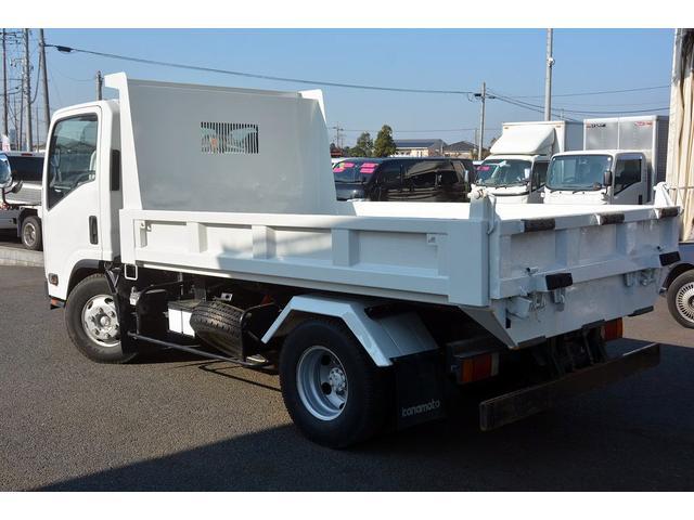 いすゞ エルフトラック ワイド ローダーダンプ 新明和製 積載3650kg リモコン