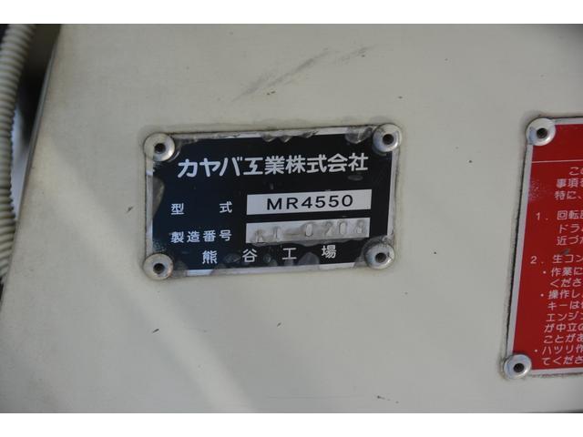3軸 ベッド ミキサー車 カヤバ 8.9立米 電動ホッパ 6速MT 2デフ 水タンク 左電動格納ミラー キャブラダー フォグランプ ミラーヒーター 坂道発進補助 デフロック ETC チョーク タコグラフ アドブルー(18枚目)