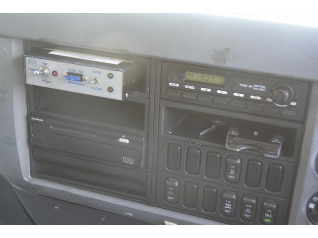 3軸 ベッド ミキサー車 カヤバ 8.9立米 電動ホッパ 6速MT 2デフ 水タンク 左電動格納ミラー キャブラダー フォグランプ ミラーヒーター 坂道発進補助 デフロック ETC チョーク タコグラフ アドブルー(37枚目)