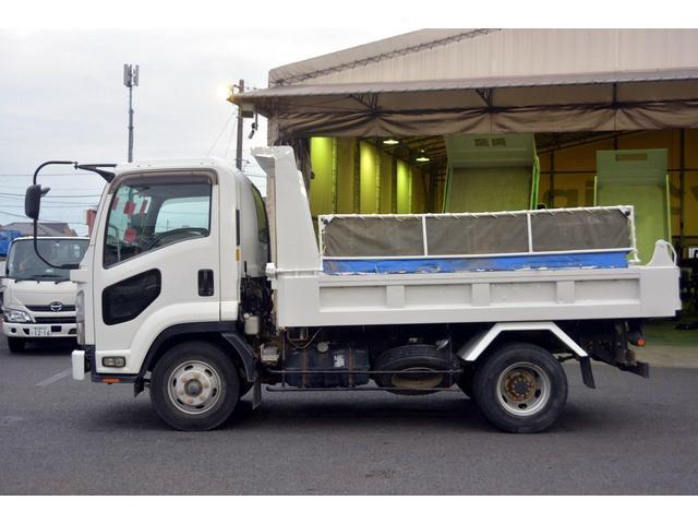 4トン ベッドレス 強化ダンプ 1方開 電動コボレーン MT 極東製 積載3800kg フォグランプ 坂道発進補助 ETC ダンプピン(4枚目)