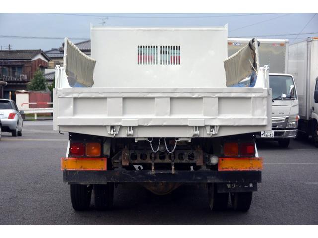 4トン ベッドレス 強化ダンプ 1方開 電動コボレーン MT 極東製 積載3800kg フォグランプ 坂道発進補助 ETC ダンプピン(5枚目)