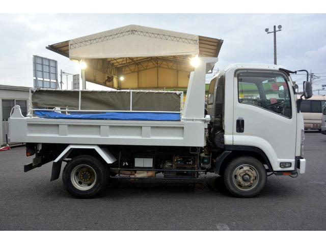 4トン ベッドレス 強化ダンプ 1方開 電動コボレーン MT 極東製 積載3800kg フォグランプ 坂道発進補助 ETC ダンプピン(6枚目)