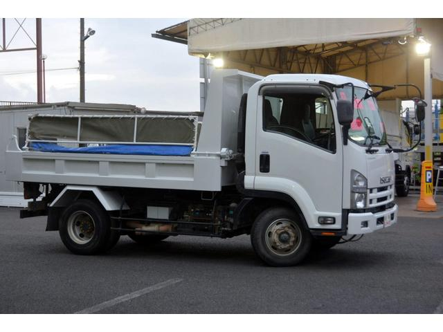 4トン ベッドレス 強化ダンプ 1方開 電動コボレーン MT 極東製 積載3800kg フォグランプ 坂道発進補助 ETC ダンプピン(7枚目)