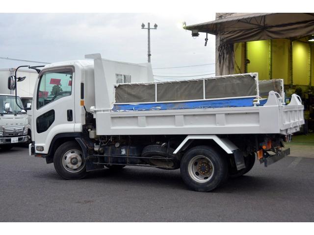 4トン ベッドレス 強化ダンプ 1方開 電動コボレーン MT 極東製 積載3800kg フォグランプ 坂道発進補助 ETC ダンプピン(8枚目)