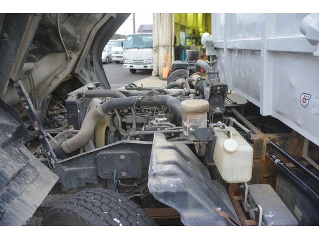 4トン ベッドレス 強化ダンプ 1方開 電動コボレーン MT 極東製 積載3800kg フォグランプ 坂道発進補助 ETC ダンプピン(14枚目)