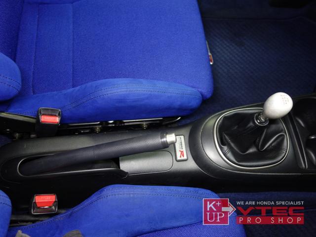 タイプR 後期最終型 青レカロ 青内装 禁煙車 モデューロFロアスカート 社外メモリナビ ETC プッシュスタート 電動格納ミラー キーレス(12枚目)