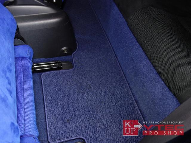 タイプR 後期最終型 青レカロ 青内装 禁煙車 モデューロFロアスカート 社外メモリナビ ETC プッシュスタート 電動格納ミラー キーレス(55枚目)