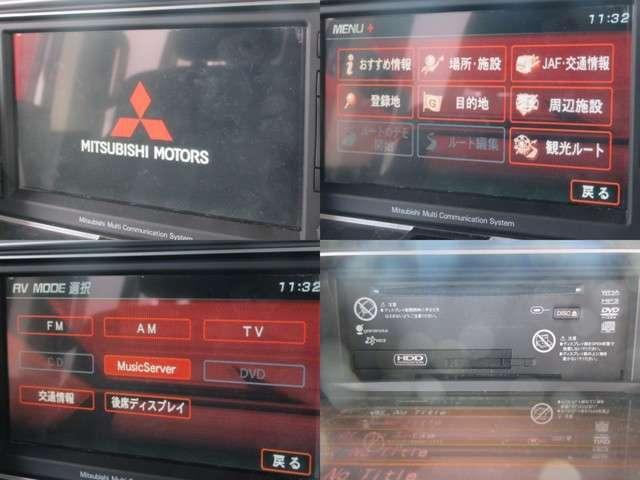 GナビPKG 4WD純正HDD地デジ後席フリップ両側電動ドア(3枚目)