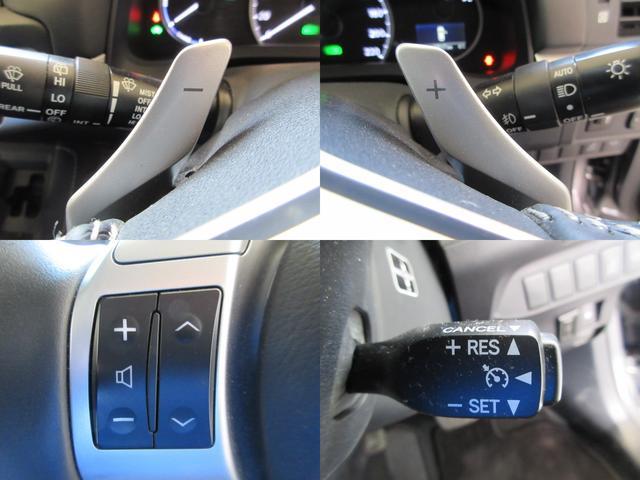 ステアリング部にてオーディオ操作・シフトチェンジが可能なパドルシフト・高速時に一定の速度での走行を可能とするクルーズコントロール付です。