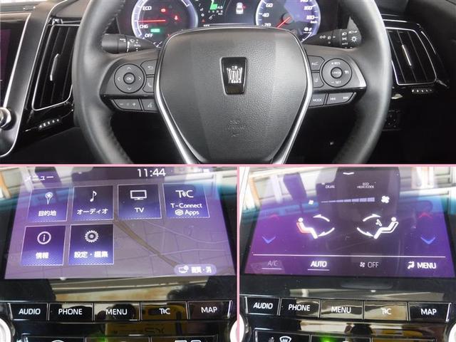 ステアリングスイッチでオーディオの各種設定や音量調整、メーター内画面表示の切り替えなどの操作ができます。目的地設定など使い易さには定評があります。