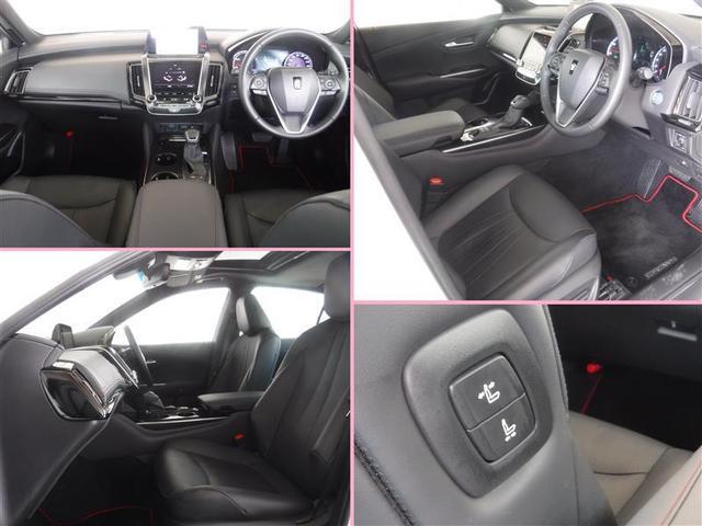 ドライバー2名分のシートポジションを記憶・再現できます。ご家族などで使いわけると便利な機能です。助手席もパワーシート。肩口スイッチでまわりのゲストの方からも動かせて便利です。