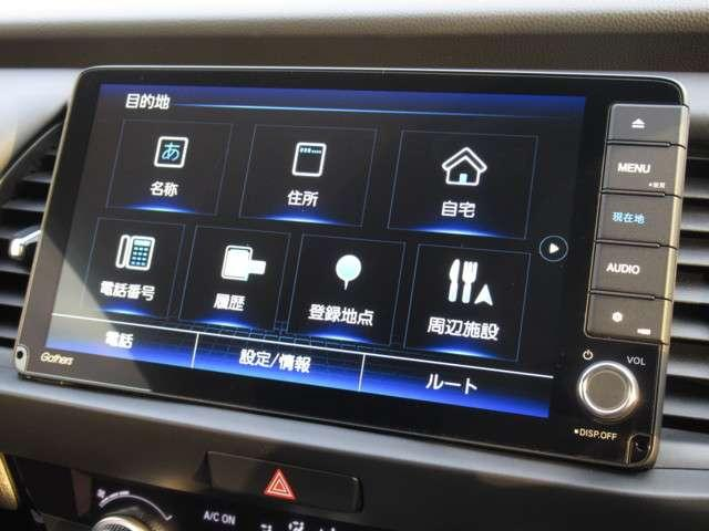 e:HEVホーム /ホンダセンシング/渋滞追従機能付き/当社試乗車/純正9インチナビ/禁煙車/Bluetooth/ETC/LEDヘッドライト/サイドカーテンエアバック/ミュージックラック/革巻きステアリング/Rカメラ(4枚目)