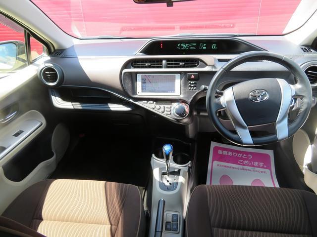 トヨタ アクア G LEDライト スマートキ 純SDナビ地デジBモニ HV