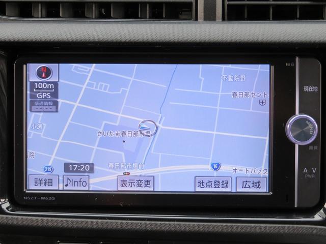 トヨタ アクア G G's 純正SDナビ ハーフレザーシート ETC
