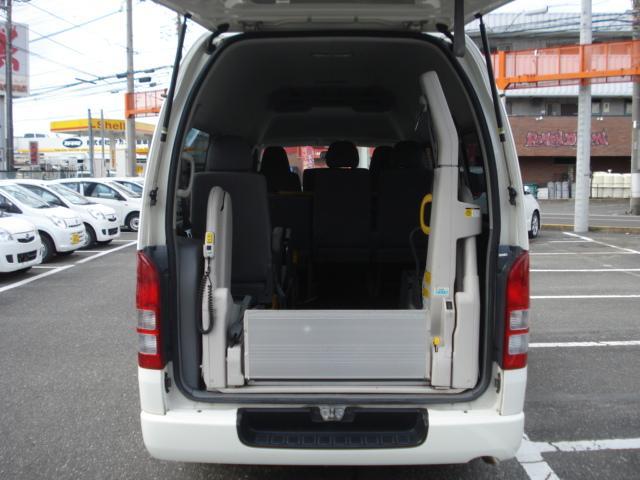 トヨタ ハイエースバン ウェルキャブBタイプ 福祉車両 車いす固定装置2基 10人乗
