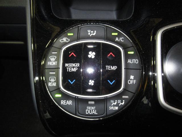 エアコンはデュアルエアコンになっています。体感温度の違いにも対応して優しい機能ですね