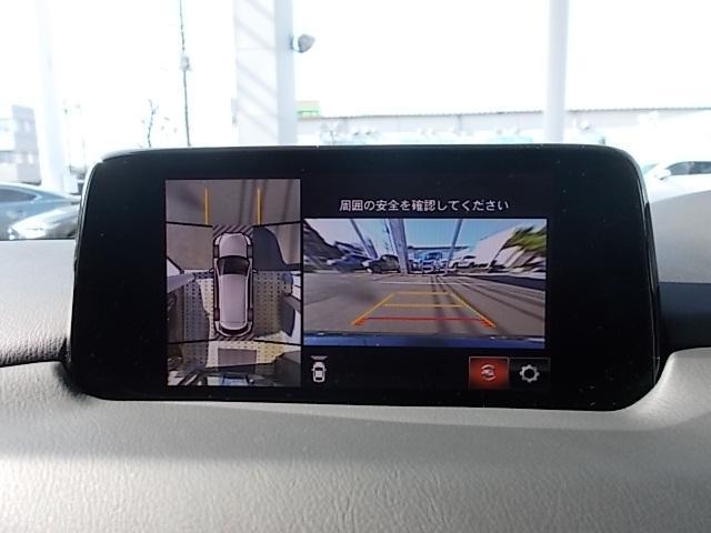 4つのカメラを活用しトップビュー、フロントビュー、左右サイドビューの映像をセンターディスプレイに表示します。