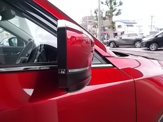 視認性も良好なドアミラーウインカーが装着されています。