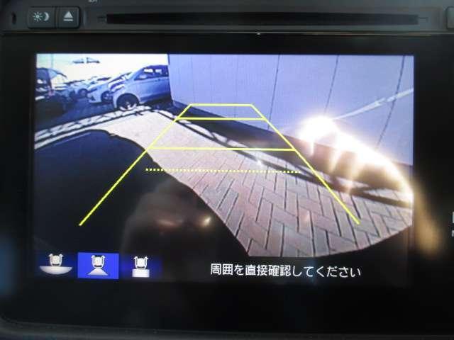 リアカメラのお写真です。駐車が苦手な方でも楽に駐車が行えますね♪
