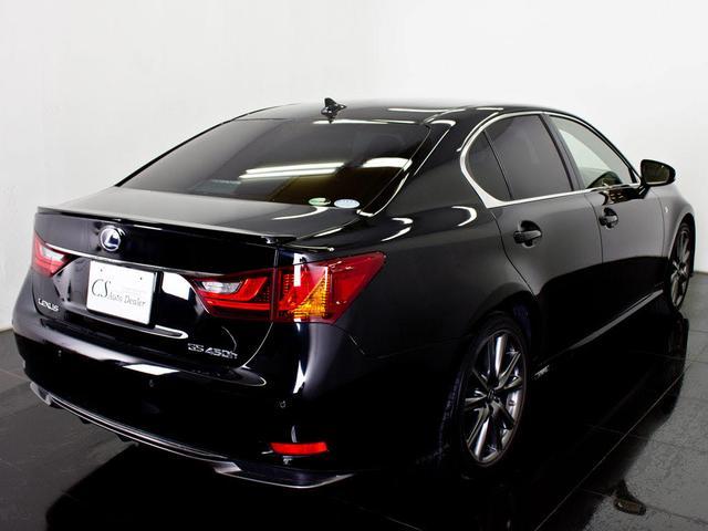 レクサス GS 450h Fスポーツ 禁煙 黒革エアシート LED HDD