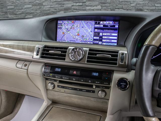 LS600h バージョンC Iパッケージ 最終型 メローホワイト本革 エアシート 電動シート クリアランスソナー パワートランク コンビハンドル クルーズコントロール HDDマルチ フルセグTV DVD LEDライト 4WD(8枚目)