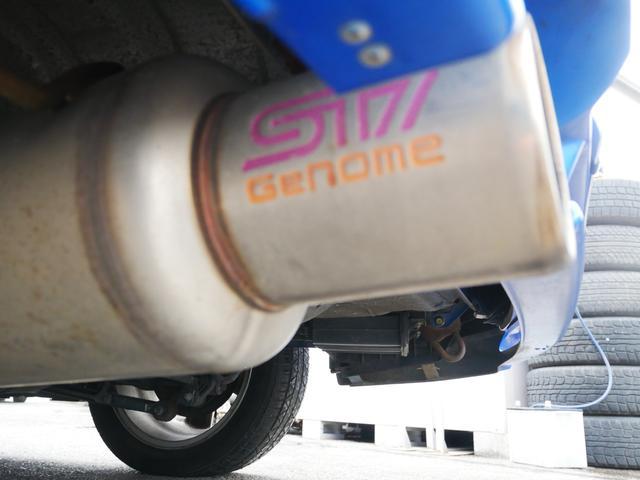 20K 1年保証付 5速MT EJ20ターボ タイベル済 純正エアロ STiゲノムマフラー ブースト計 電動格納ミラー ETC オートエアコン STiペダル サイドバイザー プライバシーガラス KEYレス(10枚目)
