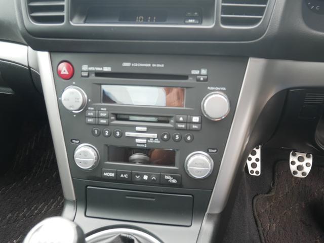 2.0GTスペックB 1年保証付 6速MT 後期型 SI-DRIVE 禁煙車 ブースト計 ステアスイッチ 6連奏CD ETC オートエアコン キーレス 電動格納ウィンカーミラー ローダウン HID フォグ 純正18AW(14枚目)
