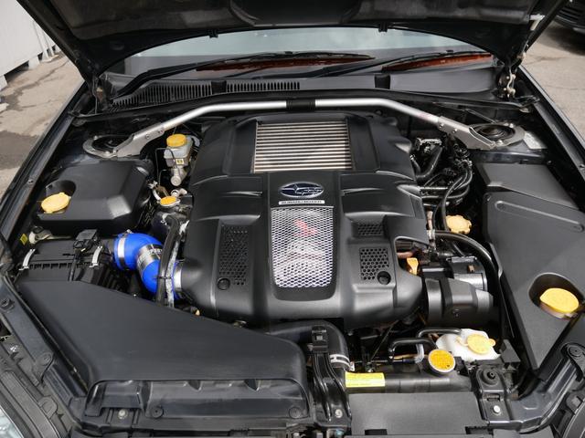 2.0GTスペックB 1年保証付 6速MT 後期型 SI-DRIVE 禁煙車 ブースト計 ステアスイッチ 6連奏CD ETC オートエアコン キーレス 電動格納ウィンカーミラー ローダウン HID フォグ 純正18AW(20枚目)