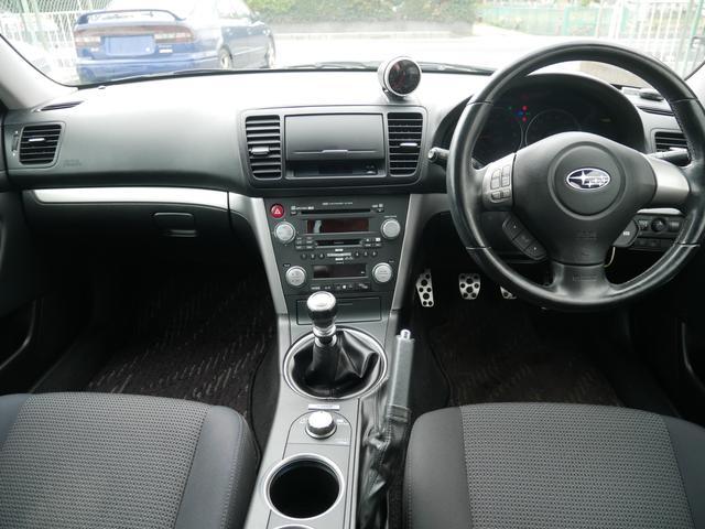 2.0GTスペックB 1年保証付 6速MT 後期型 SI-DRIVE 禁煙車 ブースト計 ステアスイッチ 6連奏CD ETC オートエアコン キーレス 電動格納ウィンカーミラー ローダウン HID フォグ 純正18AW(67枚目)