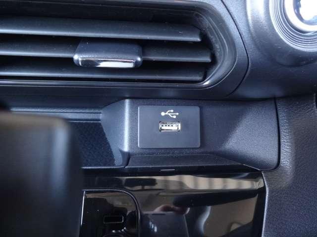 USB端子も付いていて、携帯の電源も確保できますよ!