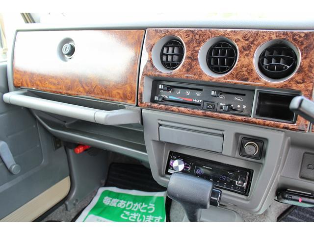 ランドベンチャー 4WD ターボ JA22最終2型 2インチリフトアップ足廻り マットブラック16インチAW GEOLANDAR.A/Tタイヤ サイドステップ カリフォルニアミラー 背面タイヤレス サンドベージュ色替車(14枚目)