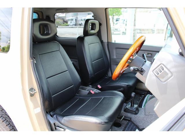 ランドベンチャー 4WD ターボ JA22最終2型 2インチリフトアップ足廻り マットブラック16インチAW GEOLANDAR.A/Tタイヤ サイドステップ カリフォルニアミラー 背面タイヤレス サンドベージュ色替車(15枚目)