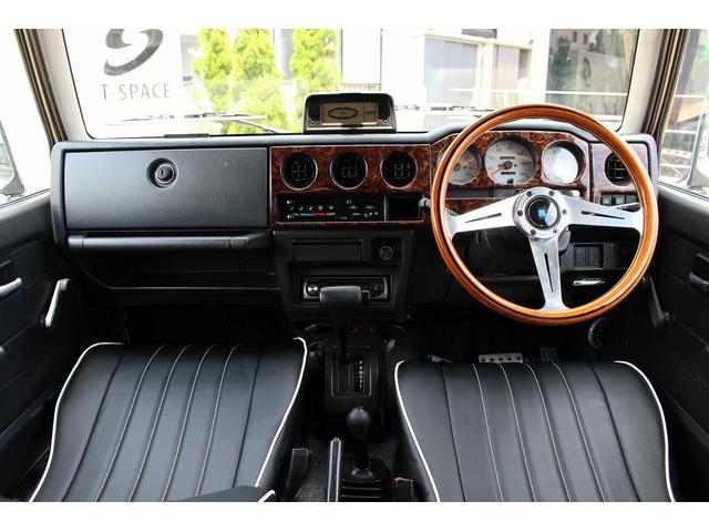 ランドベンチャー 4WD ターボ レトロスタイル サンドベージュ色替車 DAYTONAブラックスチールホイール ホワイトリボンラジアルタイヤ 純正ルーフラック NARDIステアリング レトロ調シートカバー 社外ステレオ(13枚目)
