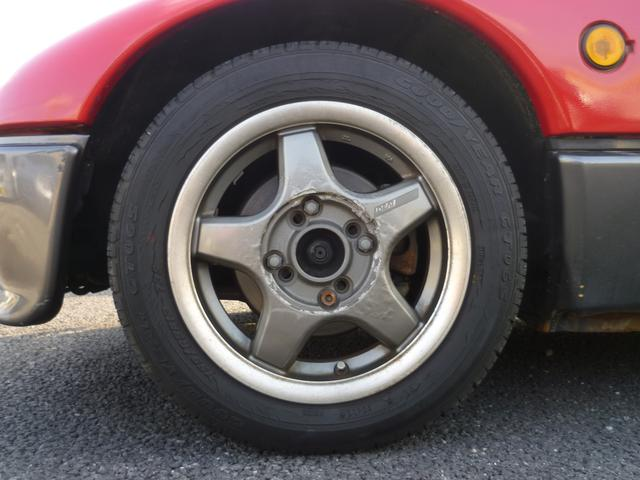 社外13インチアルミホイール付き☆タイヤは古いので納車前に交換予定です♪