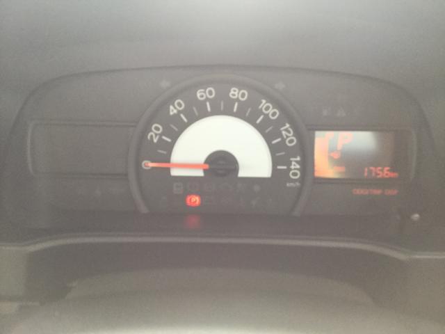 視野性に優れたスピードメーター.平均燃費が表示もします