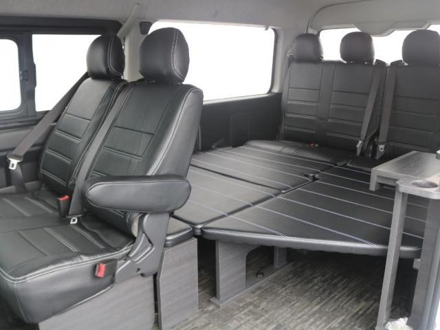 GL ベット&テーブル車中泊仕様/Ver1.5 オフロードパッケージ フルセグナビ/サブモニター フリップダウンモニター/ルーフスピーカー ナイトロパワー16インチAW TOYOオープンカントリータイヤ(3枚目)