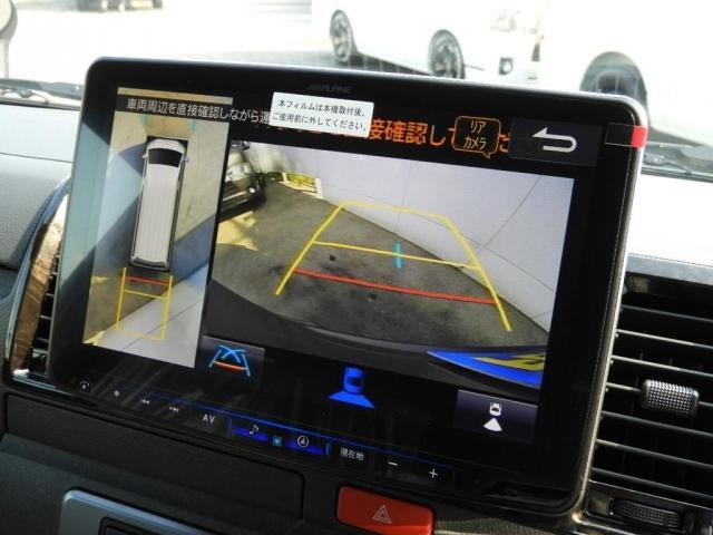 スーパーGL ダークプライムII 新車/BIG-X11インチフローティングナビ FLEXフロントリップ/オーバーフェンダー アーバンワイルド17インチ グッドイヤーナスカータイヤ FLEXフルLEDテール パノラミックビューモニター(10枚目)