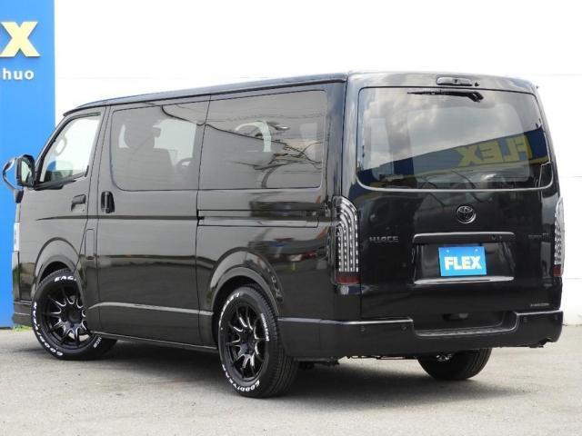 スーパーGL ダークプライムII 新車/2800クリーンディーゼル ベットキット 両側自動ドア ブラックエディション インナーブラックライト マッドブラックカスタム パナソニックフルセグナビ/ETC 新作カーボン調オーバーフェンダー(5枚目)