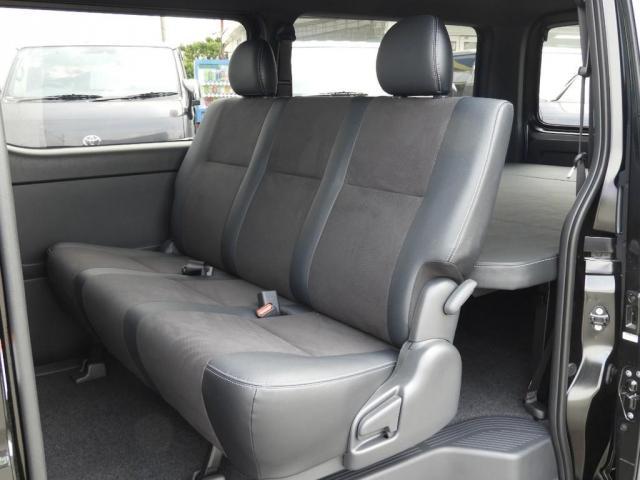 スーパーGL ダークプライムII 新車/2800クリーンディーゼル ベットキット 両側自動ドア ブラックエディション インナーブラックライト マッドブラックカスタム パナソニックフルセグナビ/ETC 新作カーボン調オーバーフェンダー(14枚目)