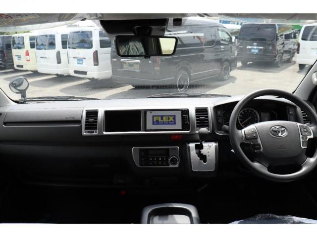 GL ロング 新車/車中泊Ver1 DENIMインテリア仕様 フルセグナビ/フリップダウンモニター/ビルトインETC Delfino Lineフロントエアロ/オーバーフェンダー プレステージLEDテール(13枚目)