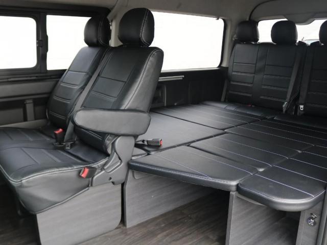 GL ロング 新車/車中泊仕様Ver1 フルセグナビ/フリップダウン Delfino Lineフロントエアロ/オーバーフェンダー アーバンワイルド17インチAW グッドイヤーナスカータイヤ プレステージLEDテール(2枚目)
