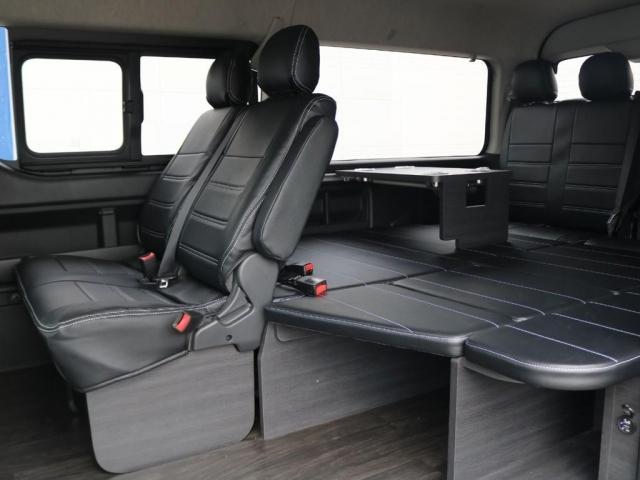 GL ロング 新車/内装架装Ver1 フルセグナビ/サブモニター/フリップダウンモニター 黒木目インテリア Delfino Lineフロントエアロ/オーバーフェンダー プレステージLEDテール(2枚目)